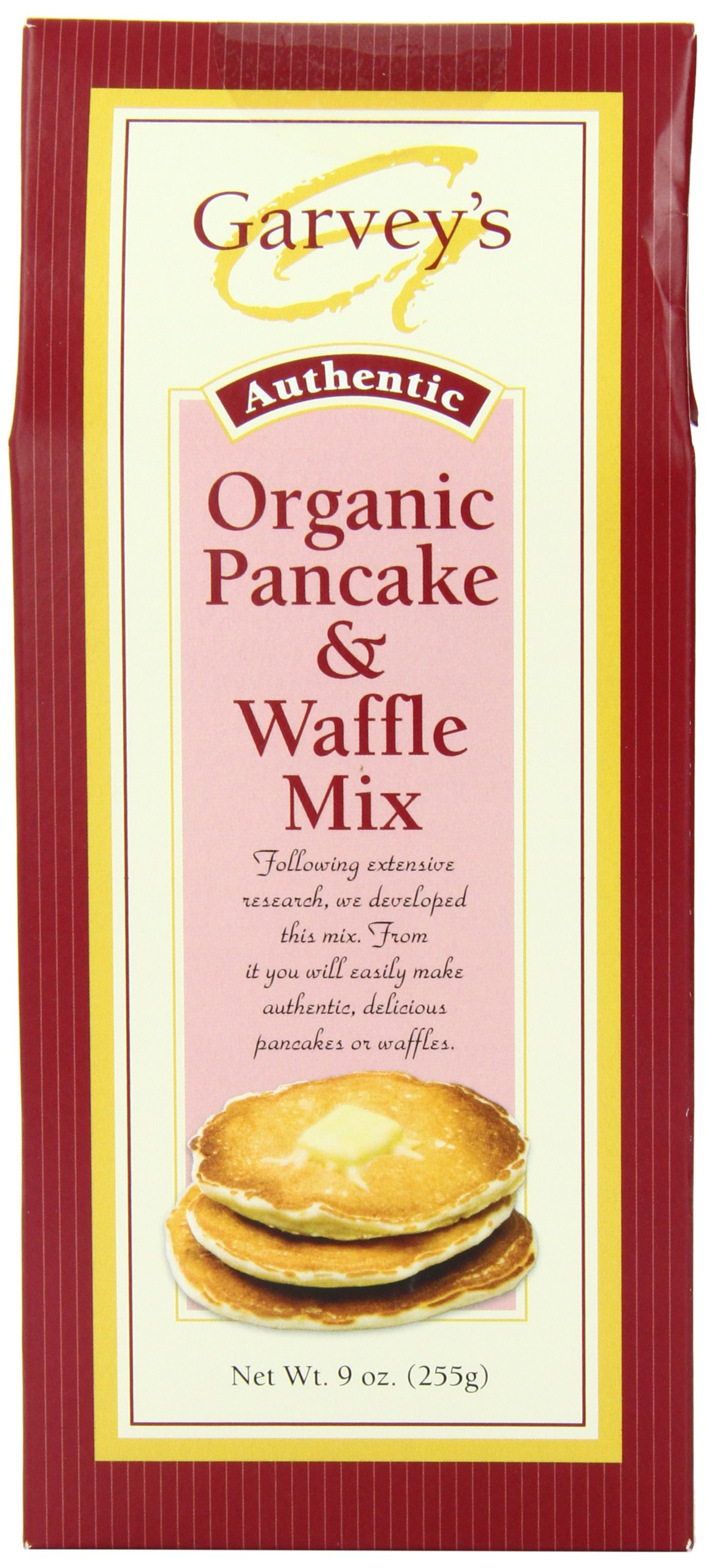 Garvey's Organic Pancake & Waffle Mix, 9-Ounce Boxes (Pack of 6)