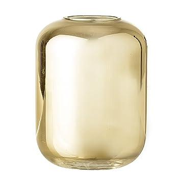 Bloomingville 23603815 Blumenvase Mit Zylinder Glas Gold Jarron