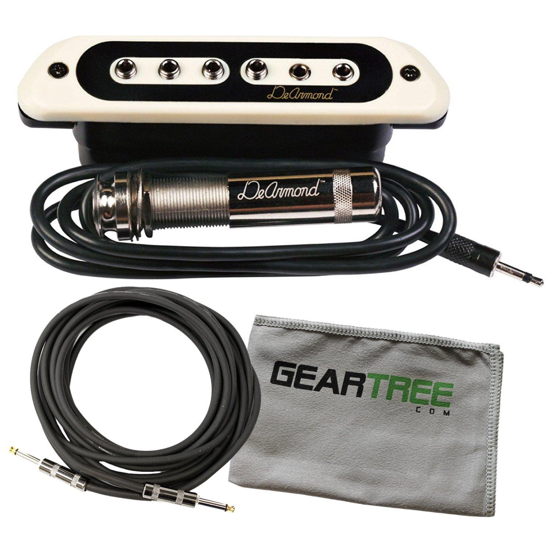 DeArmond ToneBoss Soundhole Pickup w/Polish Cloth and Cable