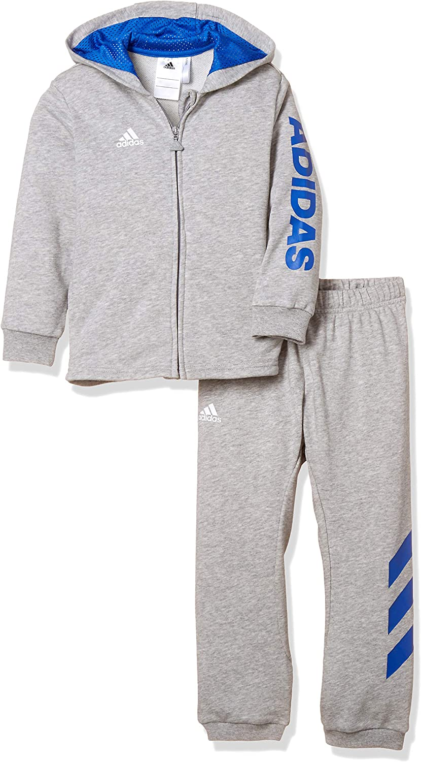 adidas Unisex Baby Linear Full Zip Hooded French Terry Chándal ...