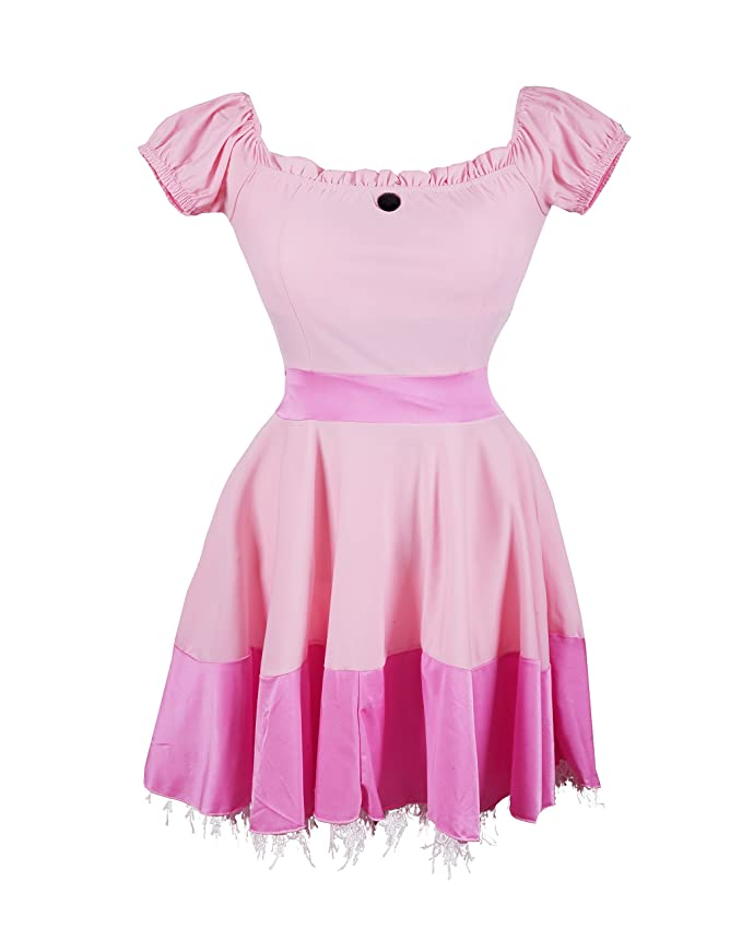 d79ffa00eb3 Princess Peach Fancy Dress Costume by Emma's Wardrobe - Includes Pink  Princess Dress, Tiara and Pair of Long White Gloves - Sleeping Beauty Dress  or ...