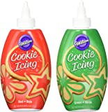 Wilton Red and Green Cookie Icing Set, 2-Count