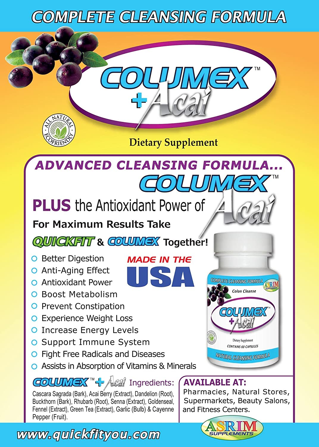 Amazon.com: Quickfit + Green Tea Weight Loss Formula Plus Free Colon Cleanser: Health & Personal Care