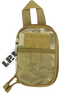 LefRight Mini Tactical Molle EDC Compact Pocket Organizer Pouch (Black, S) (Camouflage)