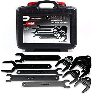 Powerbuilt 648651 Fan Clutch Wrench Master Kit New 10 piece Kit,Black