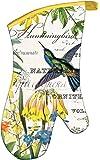 Michel Design Works Hummingbird Padded Cotton Oven Mitt, Multicolor