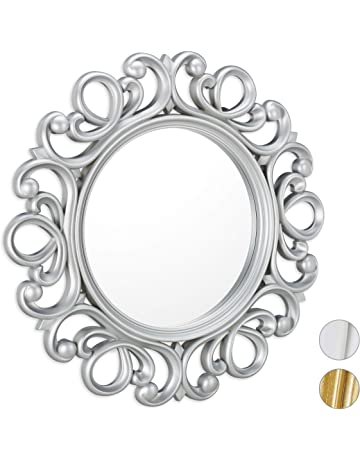Festnight Specchio da Parete in Pelle Sintetica 80 cm Bianco Lucido