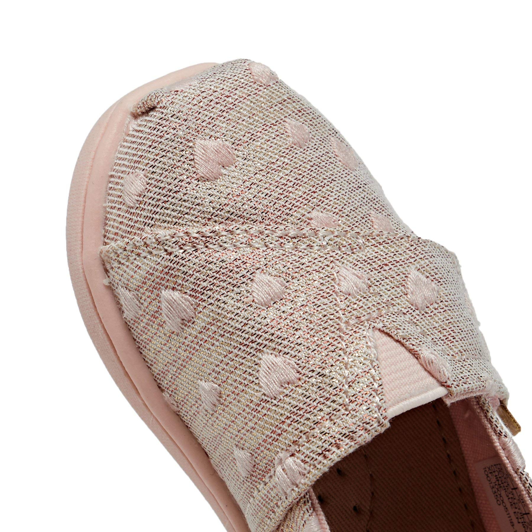 TOMS Kids Baby Girl's Alpargata (Toddler/Little Kid) Rose Cloud Heartsy Twill Glimmer Embroidery 11 M US Little Kid by TOMS Kids (Image #7)