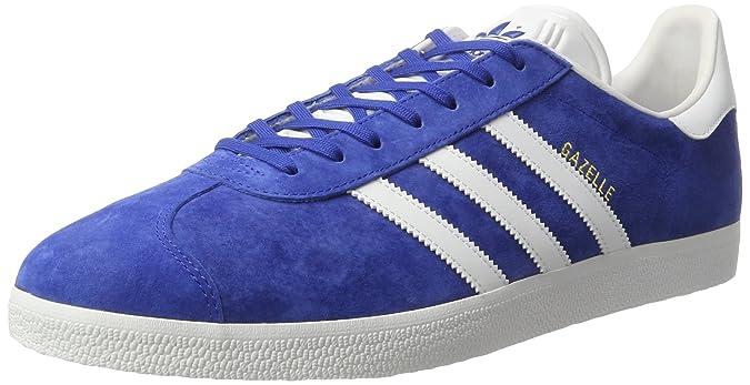 Adidas Originals Gazelle, Zapatillas Unisex Adulto, Azul (Collegiate Royal/White/Gold Metallic), 46 EU