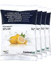 Nortembio Acido Citrico 2 kg (4x500g). Polvere Anidro, 100% Puro. per Produzione Biologica. Sviluppato in Italia.