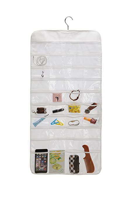 Amazoncom ZKF Closet Canvas Ultra 80 Pocket Hanging Jewelry