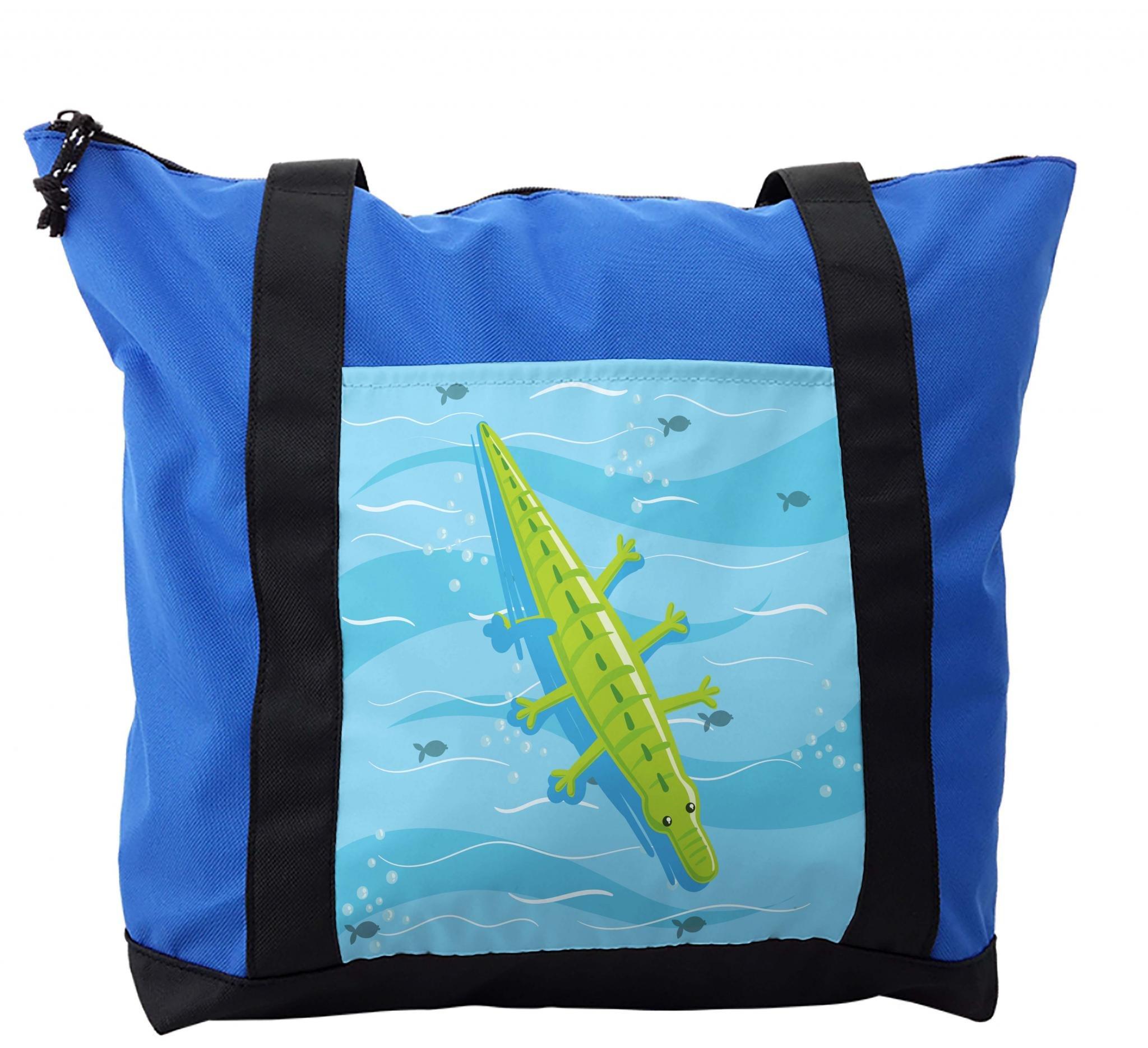 Lunarable Alligator Shoulder Bag, Kids Summer Toy Water, Durable with Zipper