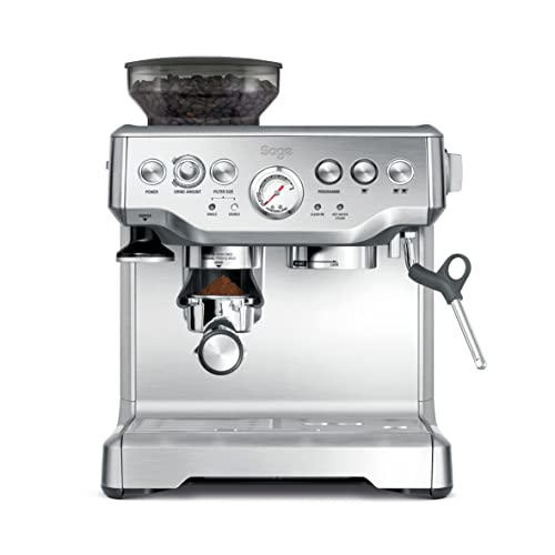 Sage by Heston Blumenthal BES875UK The Barista Express with Temp Control Milk Jug, Brushed Stainless Steel