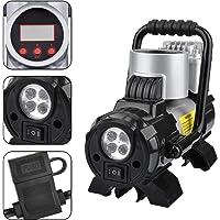 Pompe de voiture électrique portable KZKR Pompe gonflable pour voiture LCD 12 Volt 300 psi haute qualité Compresseur d'air Gonfleur de pneu de voiture Outil Vélo Camping avec jauge
