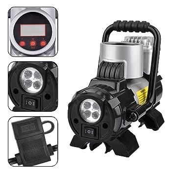 Bomba portátil portátil KZKR Bomba inflable para el coche LCD 12 voltios 300 psi Compresor neumático