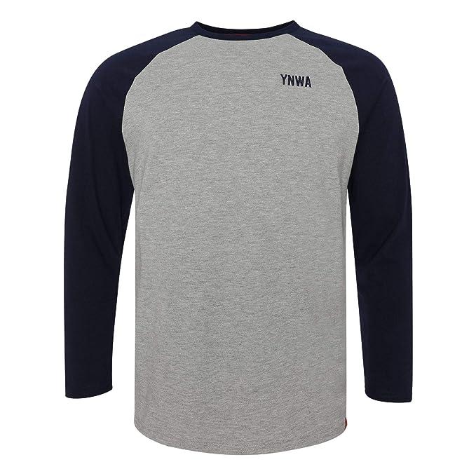 0d56dc2743b7 Liverpool FC Grey Mens Raglan Marl Crew Shirt SS19 LFC Official ...