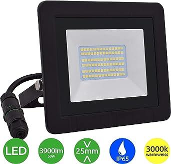 Lumare Foco LED 50W reflector extra plano IP65 3000k para exterior ...