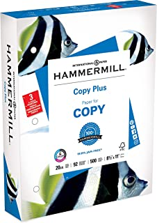 product image for Copy Plus Copy Paper, 3-Hole Punch, 92 Brightness, 20lb, Ltr, White, 500 Shts/Rm