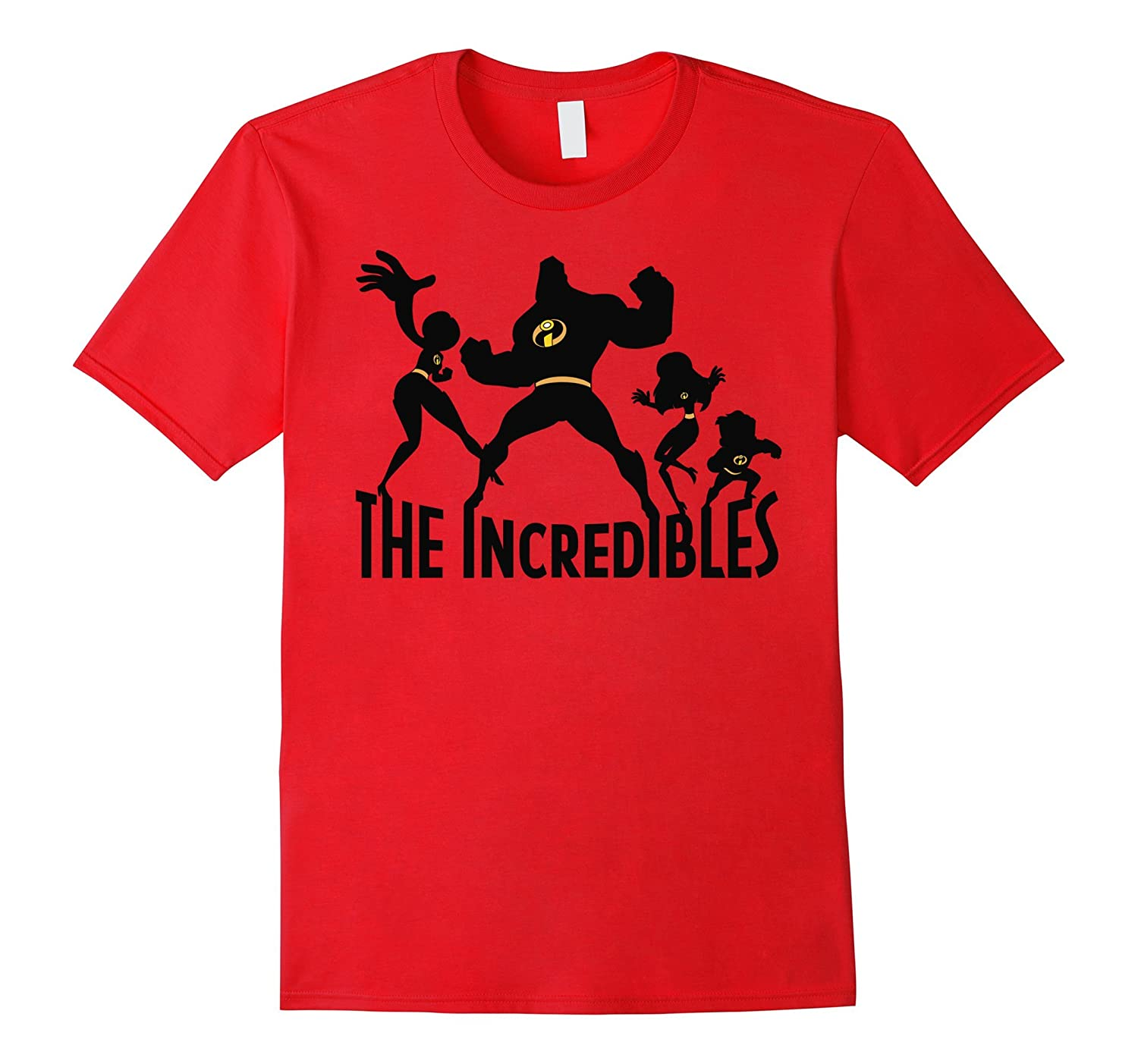 Disney The Incredibles Family Silhouette Graphic T-Shirt
