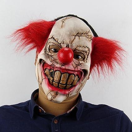 TOOGOO Mascara de Miedo de Latex extrana Accesorios de Baile de Bar de Navidad Halloween Payaso