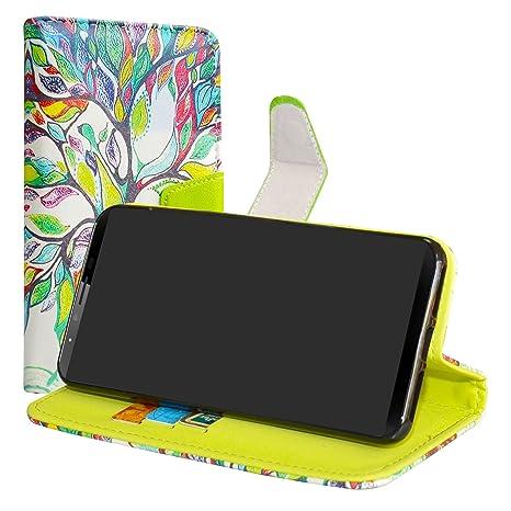 LiuShan CUBOT X18 Plus Funda, PU Cuero Book Style Billetera Cartera Monedero con Soporte Funda Caso para CUBOT X18 Plus (5.99 Pulgadas) Smartphone(con ...