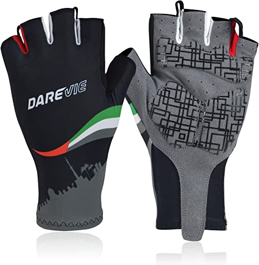 Size L RRP £25 Dare2b Mens Pro Cycle Padded Fingerless Cycle Gloves Mitts