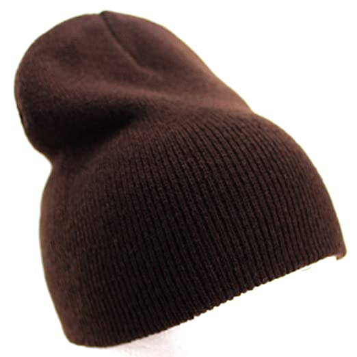 Enimay Solid Color Short Winter Beanie Hat Knit Cap Brown at Amazon ... fb9cfd8ef77