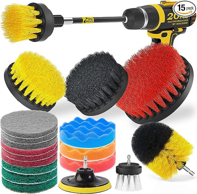 20 Piece Drill Brush Attachments Set, Scrub Pads & Sponge