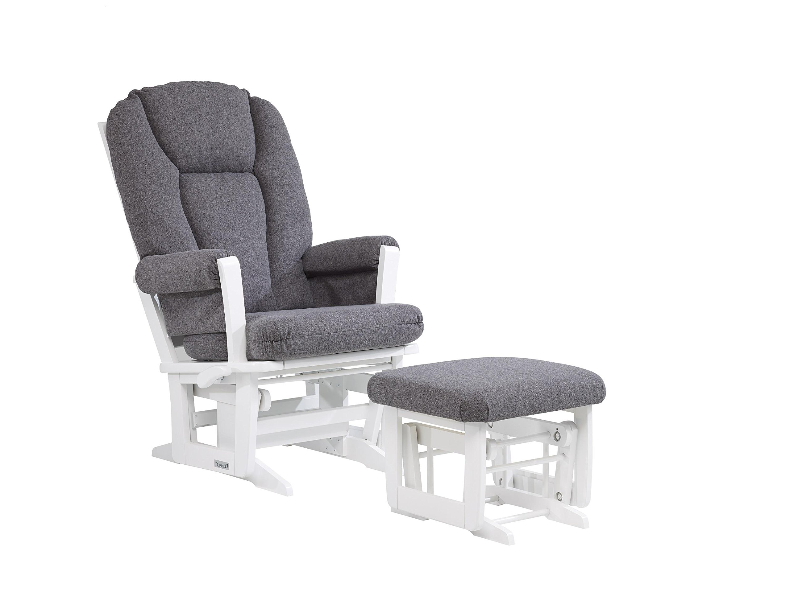 Dutailier Modern 0410 Glider Multiposition-Lock Recline with Nursing Ottoman Included by Dutailier