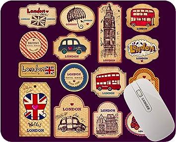 London United Kingdom UK Icons Rubber Mouse Mat PC Mouse Pad