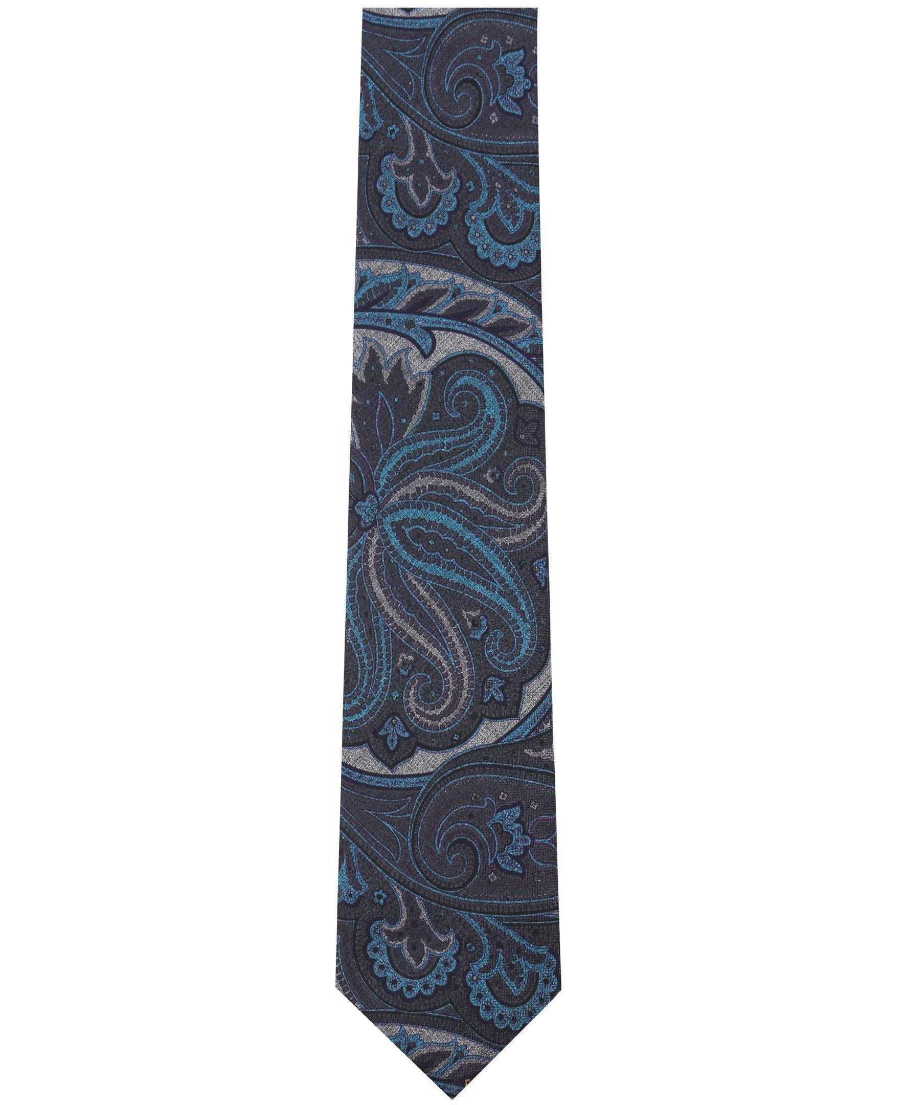 Nautica Men's Cargo Micros Tie, Charcoal, One Size