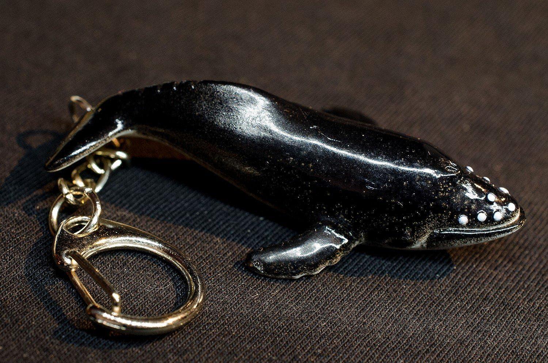 Miniblings Buckelwal Schl/üsselanh/änger Anh/änger Ozean Walfisch Wal schwarz