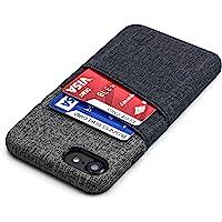 Dockem iPhone SE 2, iPhone 8/7 portfel etui z wbudowaną metalową płytką do montażu magnetycznego i 2 przegródki na karty…