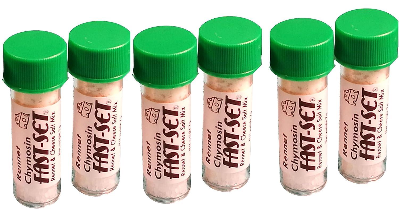 6 X Rennet Chymosin Fast-Set 7 grams Mix Rennin Cheese salt /& Coagulant Tub