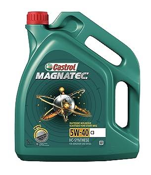 Castrol MAGNATEC Aceite de Motores 5W-40 C3 5L (Sello alemán): Amazon.es: Coche y moto