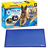 Polar Pooch Cooling Dog Bed Mat by BulbHead, Portable Pressure Activated Pet Cooling Pad with Cooling Gel