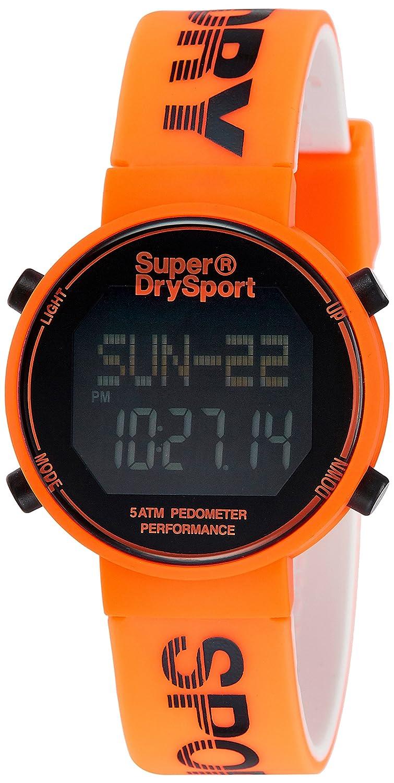 Superdry Reloj Unisex de Digital con Correa en Silicona SYG203O