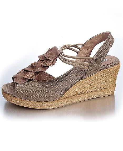 Toni Pons - Alpargata Mujer , color Beige, talla 37: Amazon.es: Zapatos y complementos