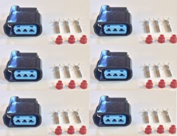 6x Plug Connector Harness Pigtail for Honda Acura Ignition Coils W/out Wire