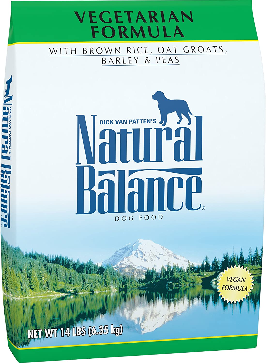 Natural Balance Vegetarian Dry Dog Food, Brown Rice, Oat Groats, Barley Peas, Vegan