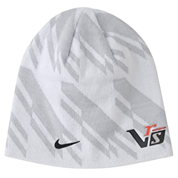 low priced 28bf6 c992a Nike Golf 2014 Unisex VRS Tour Knit Beanie Hat - White Geyser Grey   Amazon.co.uk  Sports   Outdoors