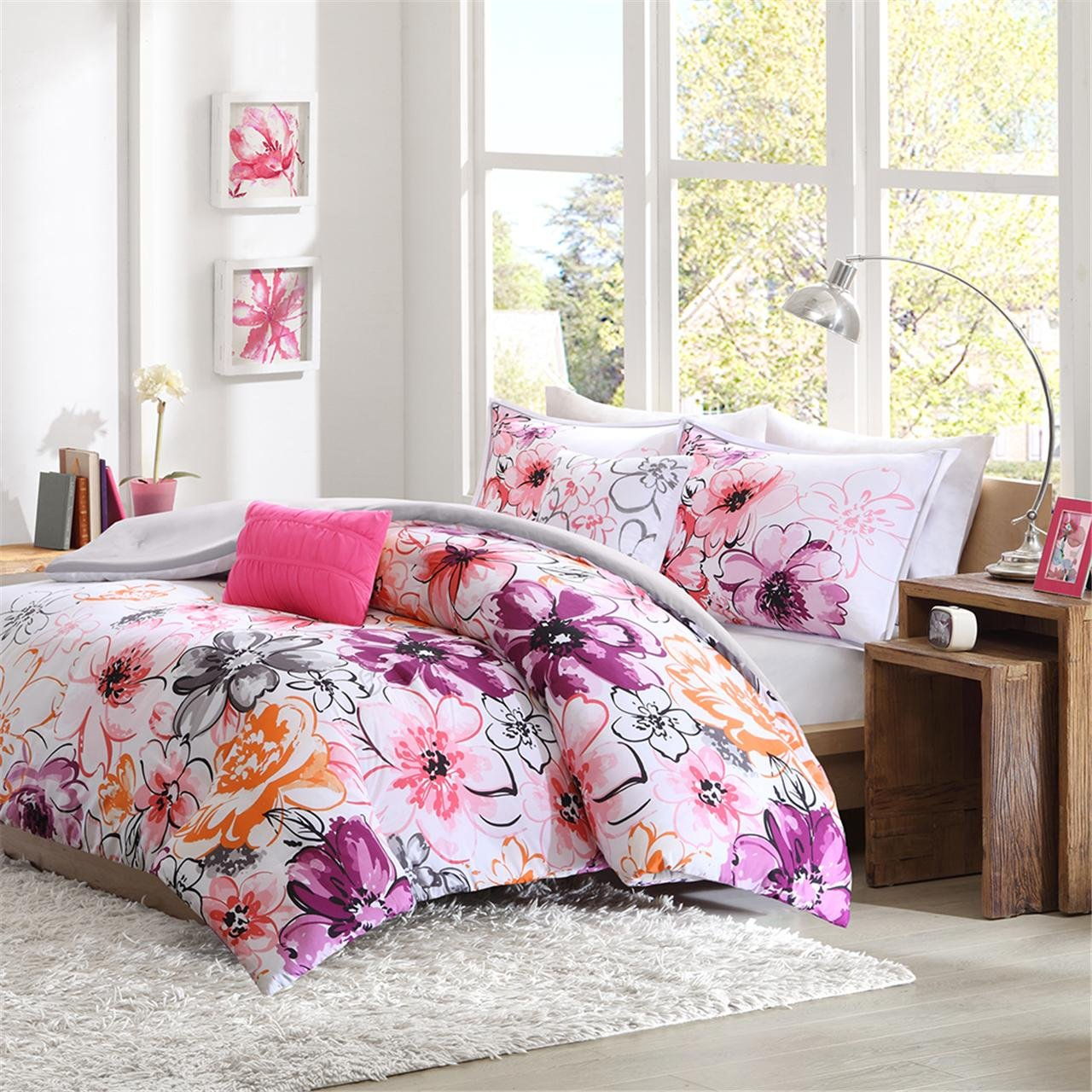 Intelligent Design Olivia 5 Piece Comforter Set, Full/Queen, Pink