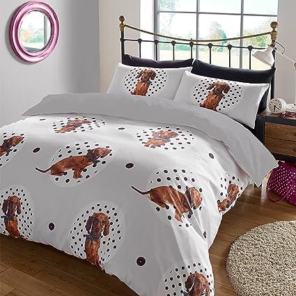 """Dreamscene – """"lunares perro Animal Juego de cama de funda de edredón con fundas"""