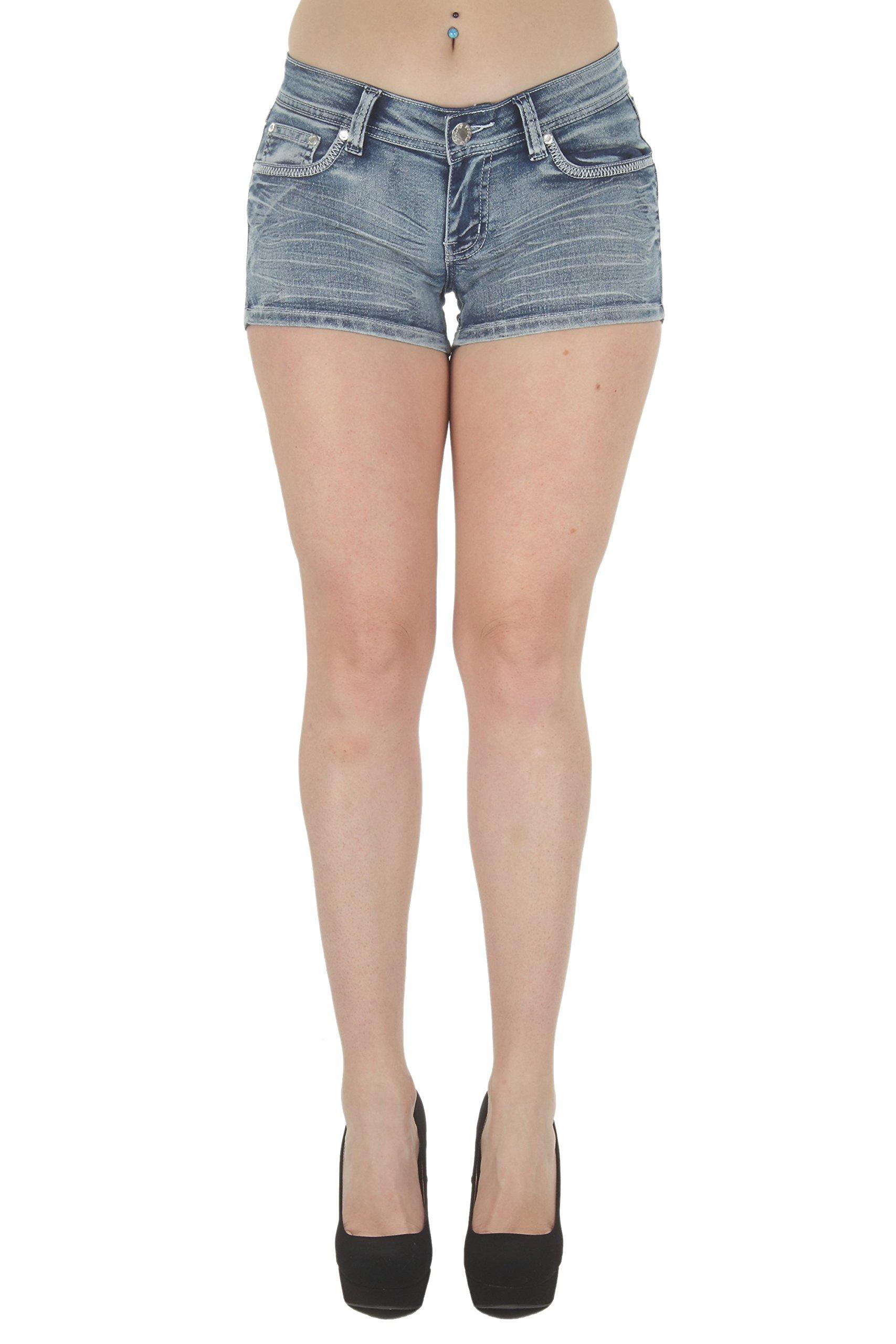 Fashion2Love F2L-35057SH – Colombian Design Butt Lift Levanta Cola, Booty Shorts