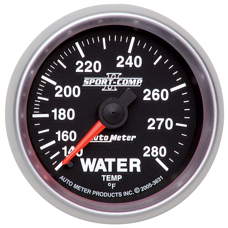 Auto Meter 3631 Sport Comp II Mechanical Water Temperature Gauge