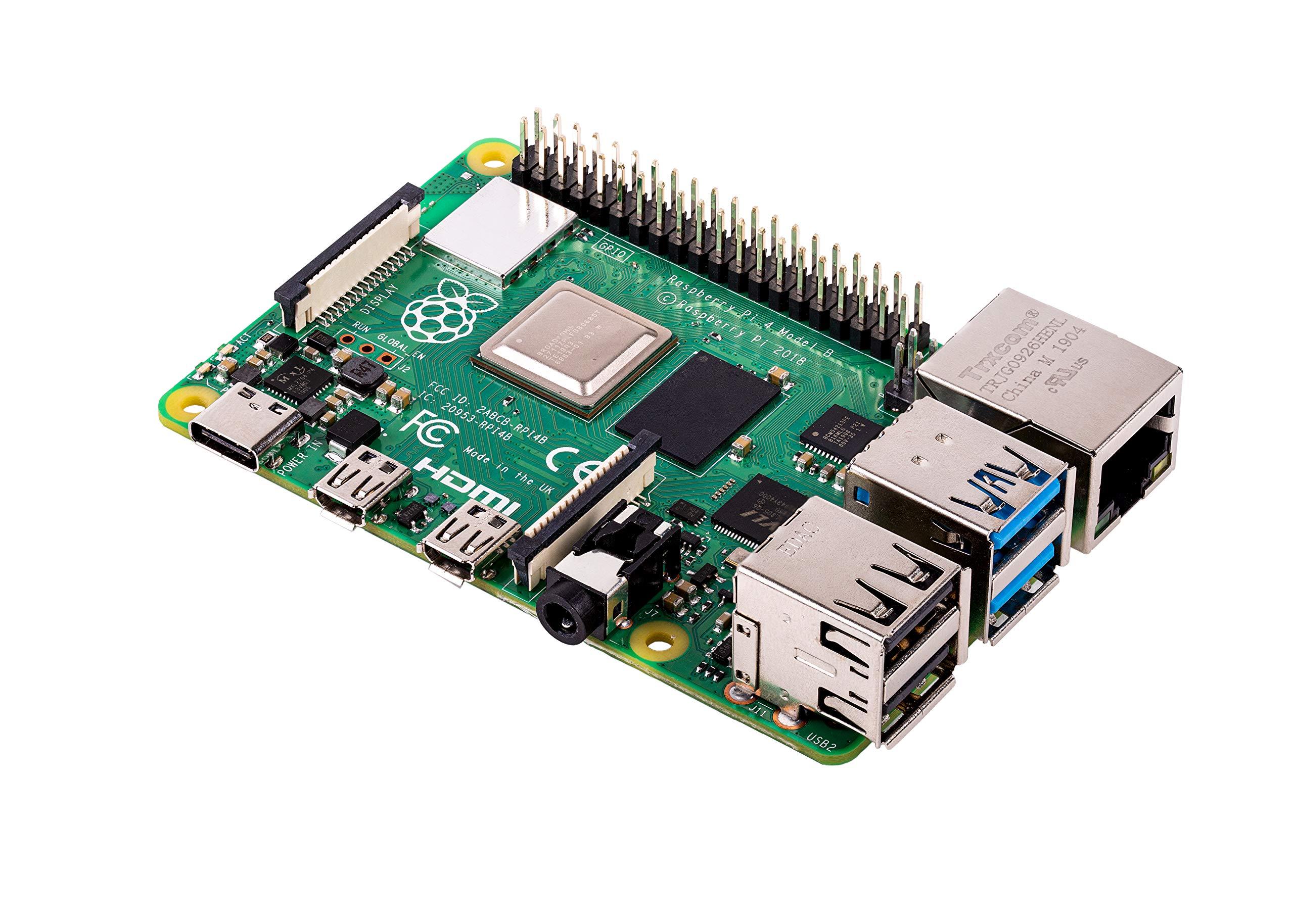 Raspberry Pi 4 Model B 2019 Quad Core 64 Bit WiFi Bluetooth (4GB) by Raspberry
