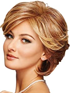 Bundle - 2 items: Integrity Wig by Gabor (item#1), Christy's Wigs Q & A Booklet (item#2) - Color: Dark-Brown