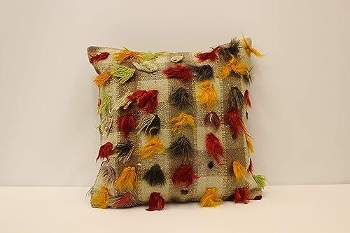 Turkish Kilim Pillow Cover 18x18 in 45x45 cm Throw Pillow Case Decorative Pillow Mudcloth Pillow Bho Cushion 4kbf-1652