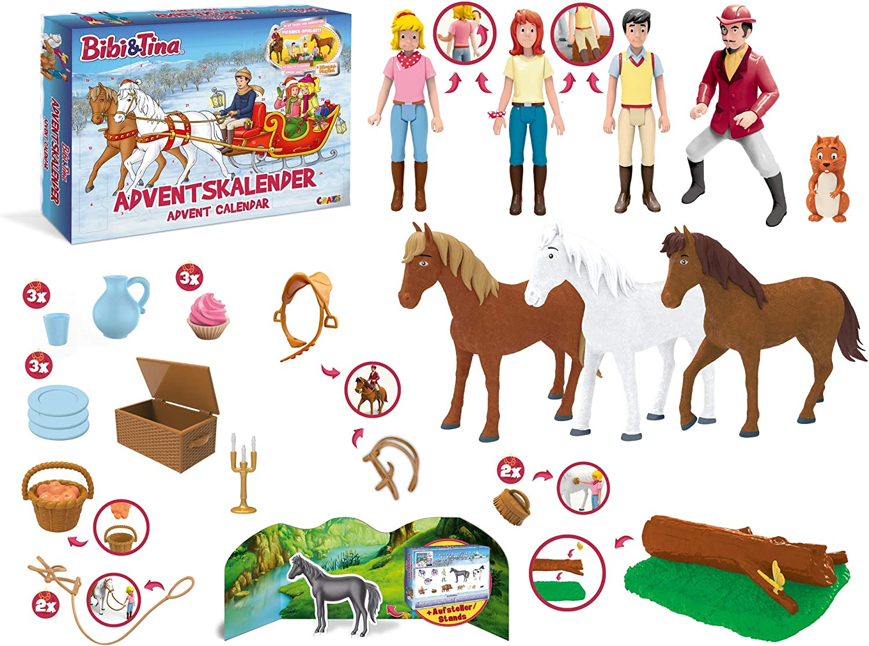 CRAZE Adventskalender BIBI & Tina 2019 Weihnachtskalender für Mädchen Spielzeug Kalender tolle Inhalte 19474