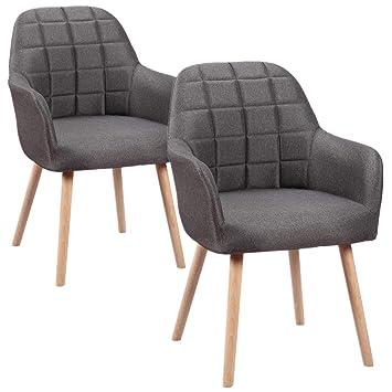 HENGMEI Juego de 2 sillas de Comedor Salón Silla Cocina Sillas – Silla de Oficina con reposabrazos para Cocina, Oficina, Conferencia Habitaciones